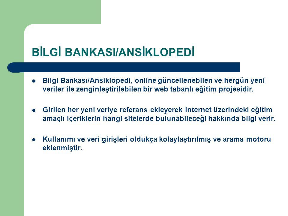 BİLGİ BANKASI/ANSİKLOPEDİ