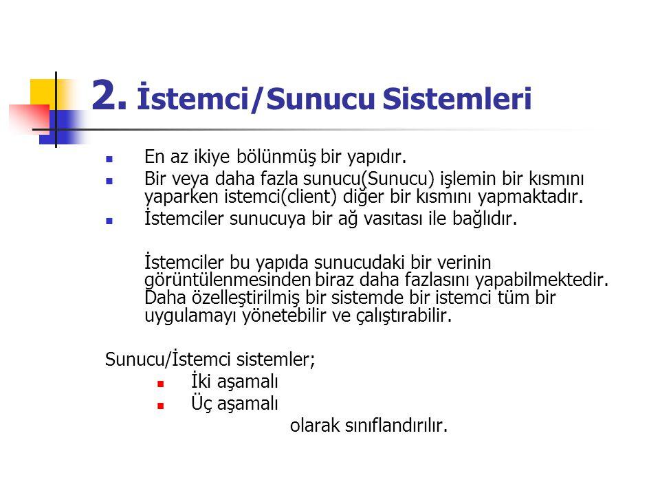2. İstemci/Sunucu Sistemleri