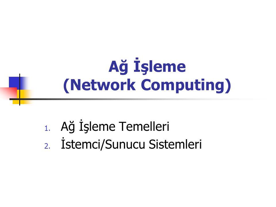 Ağ İşleme (Network Computing)