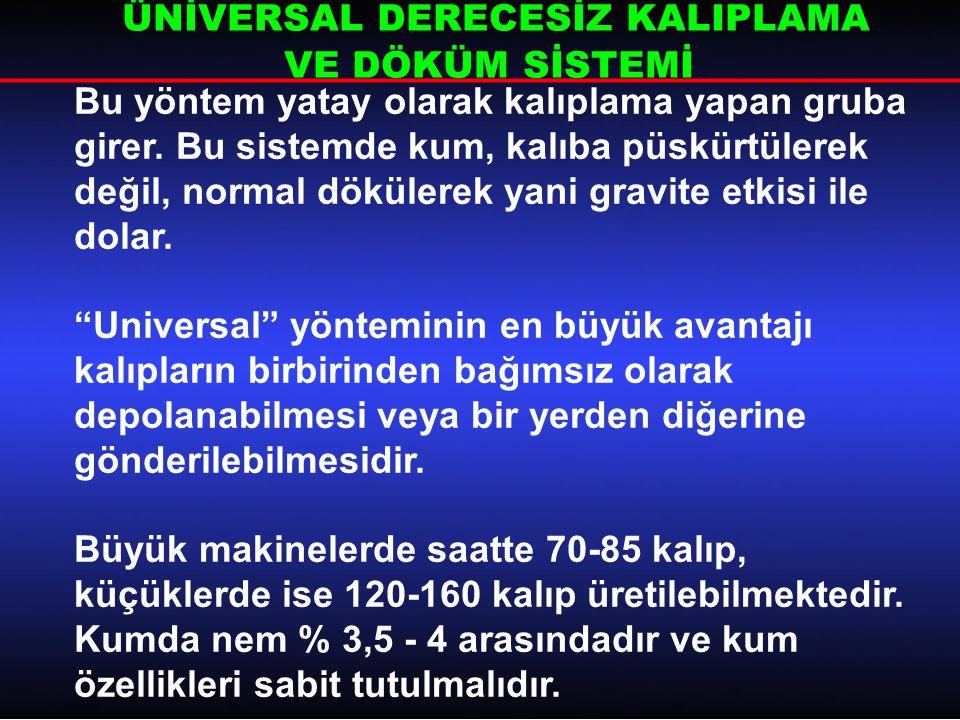 ÜNİVERSAL DERECESİZ KALIPLAMA VE DÖKÜM SİSTEMİ