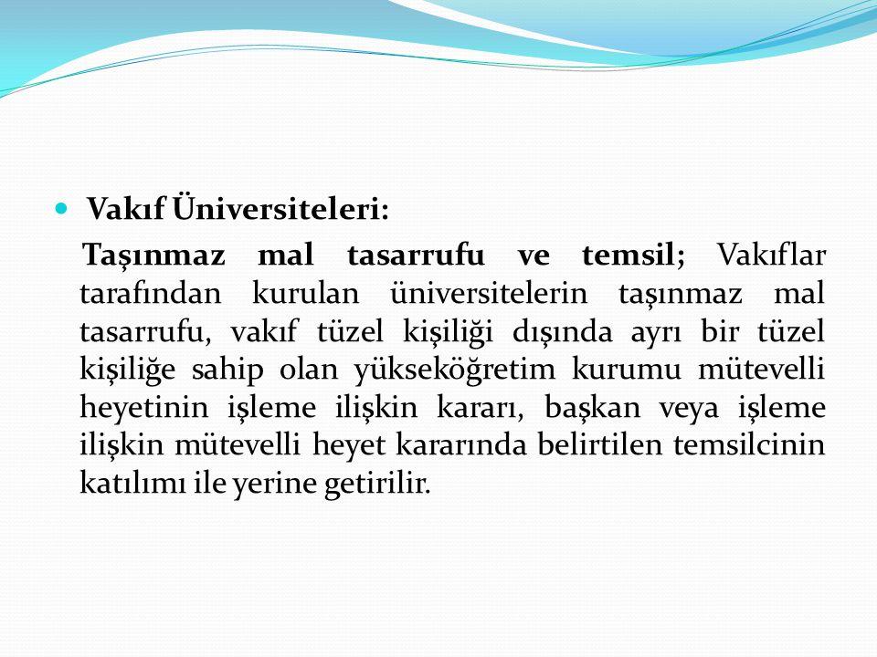 Vakıf Üniversiteleri: