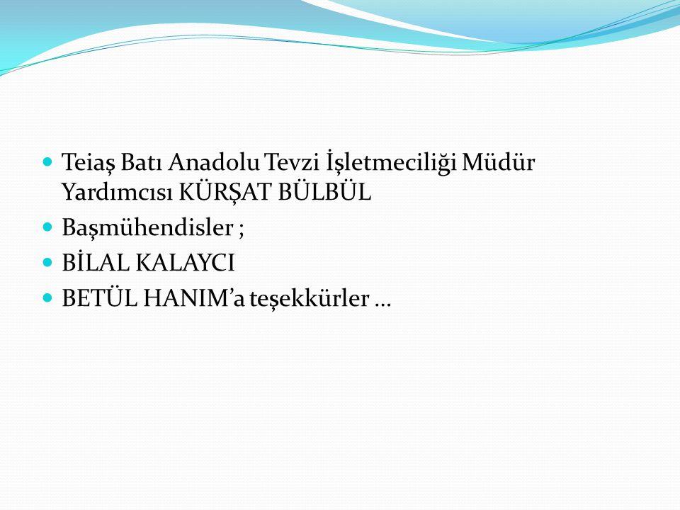 Teiaş Batı Anadolu Tevzi İşletmeciliği Müdür Yardımcısı KÜRŞAT BÜLBÜL
