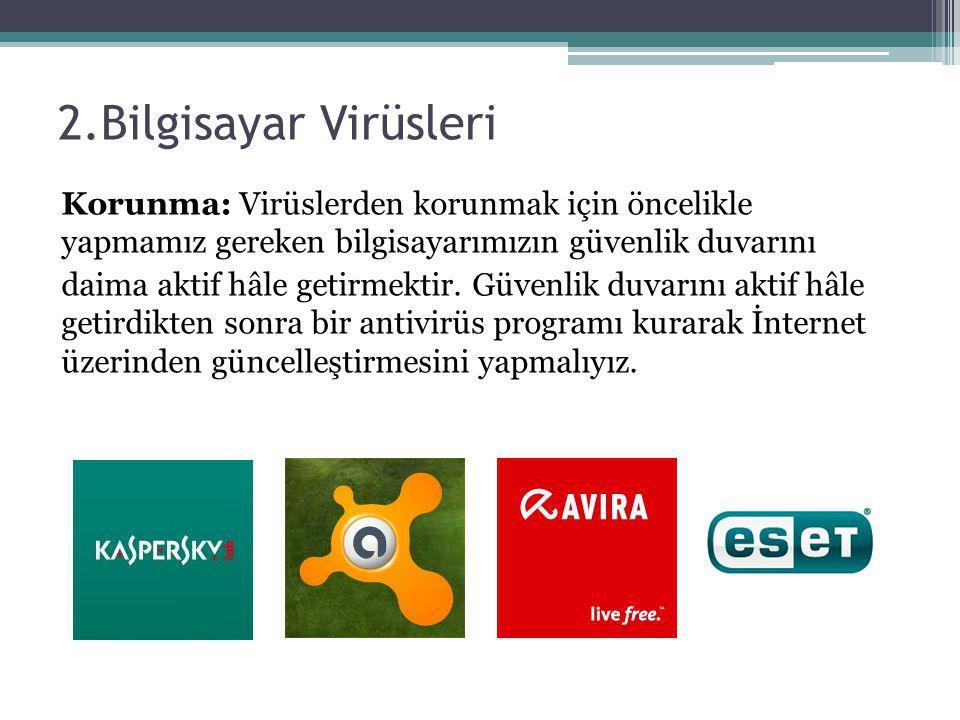 2.Bilgisayar Virüsleri