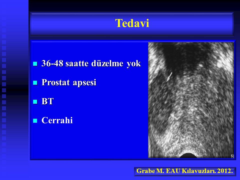 Tedavi 36-48 saatte düzelme yok Prostat apsesi BT Cerrahi