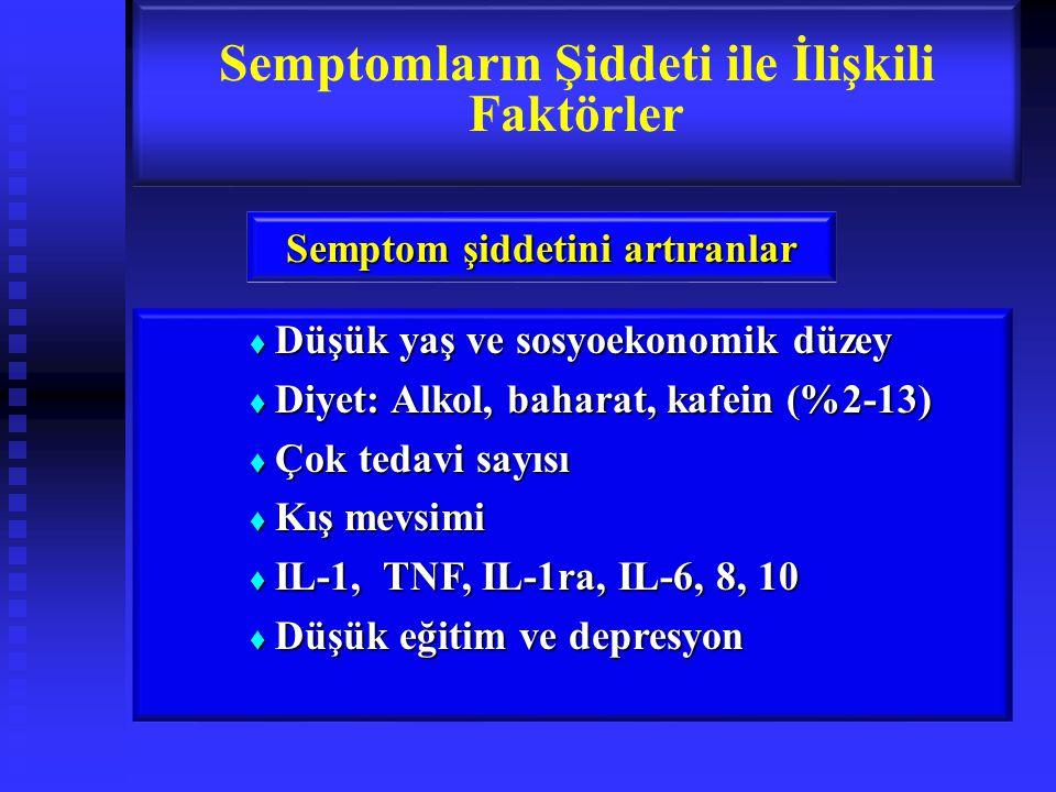 Semptomların Şiddeti ile İlişkili Faktörler