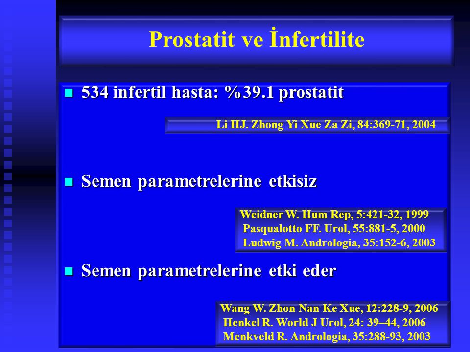 Prostatit ve İnfertilite