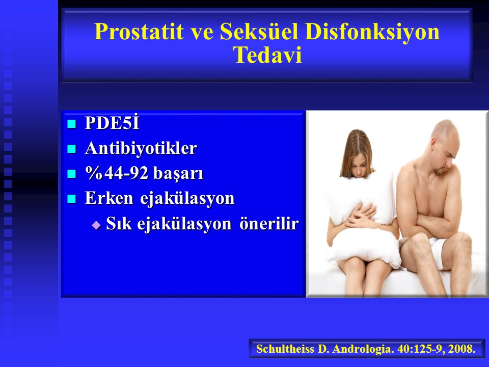 Prostatit ve Seksüel Disfonksiyon Tedavi