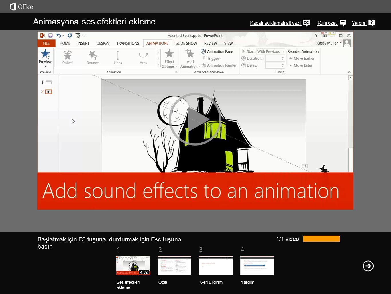 Animasyona ses efektleri ekleme
