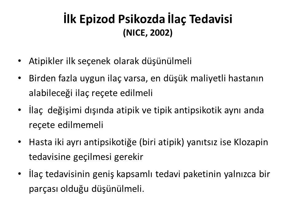 İlk Epizod Psikozda İlaç Tedavisi (NICE, 2002)