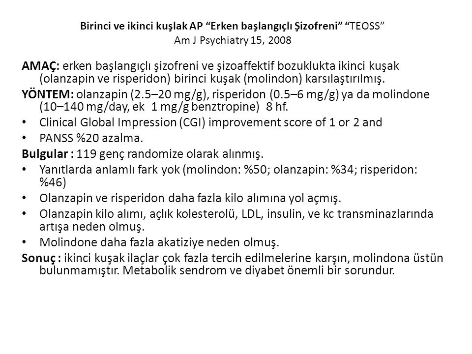 Clinical Global Impression (CGI) improvement score of 1 or 2 and