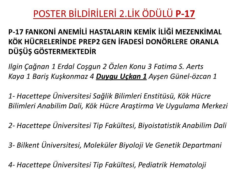 POSTER BİLDİRİLERİ 2.LİK ÖDÜLÜ P-17