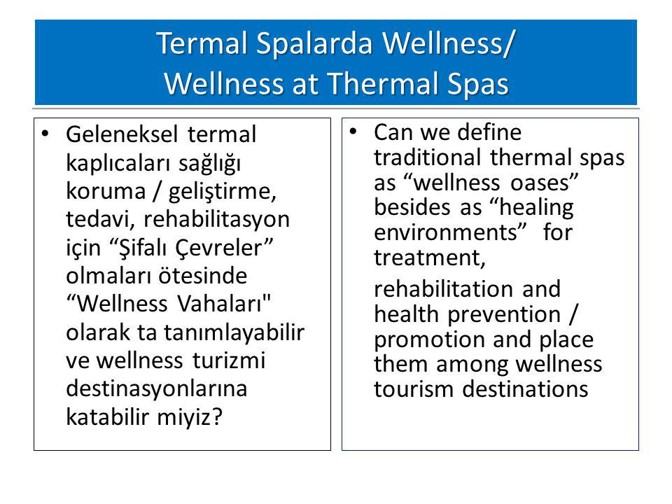 Termal Spalarda Wellness/ Wellness at Thermal Spas
