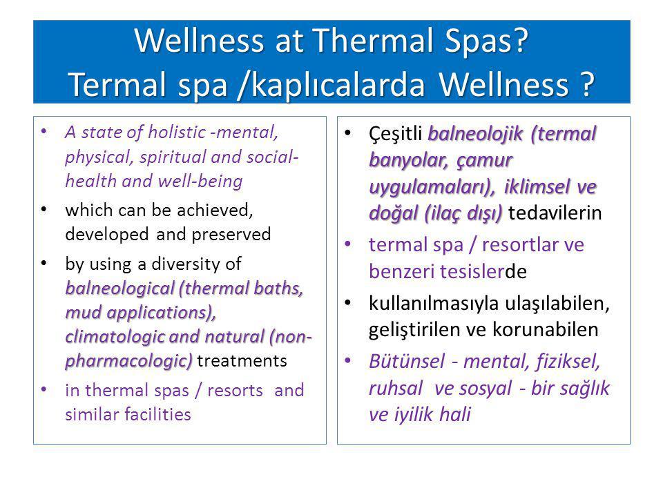 Wellness at Thermal Spas Termal spa /kaplıcalarda Wellness