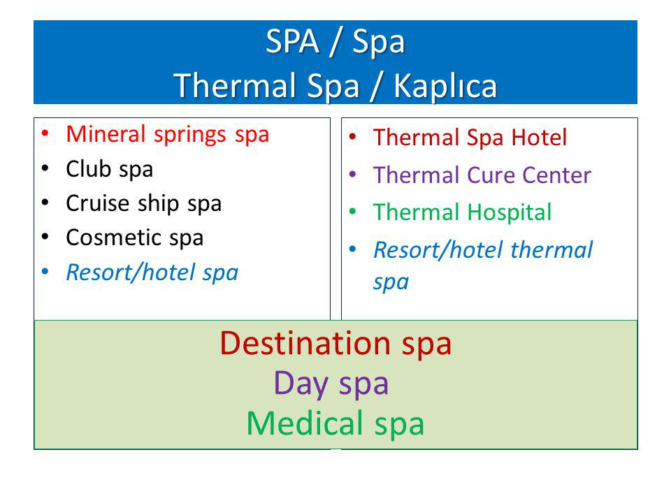 SPA / Spa Thermal Spa / Kaplıca