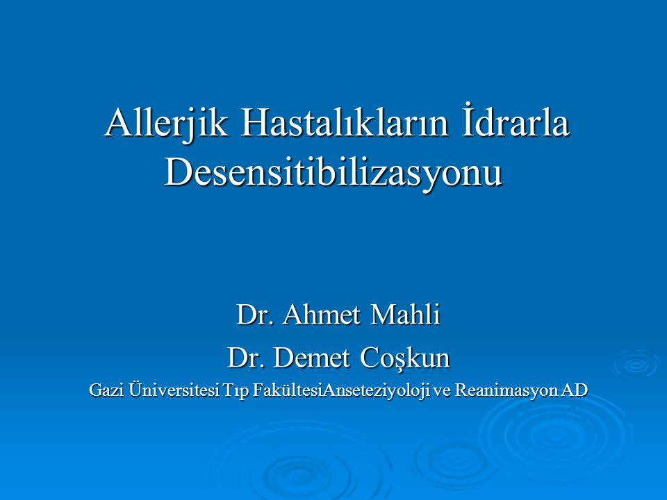 Allerjik Hastalıkların İdrarla Desensitibilizasyonu