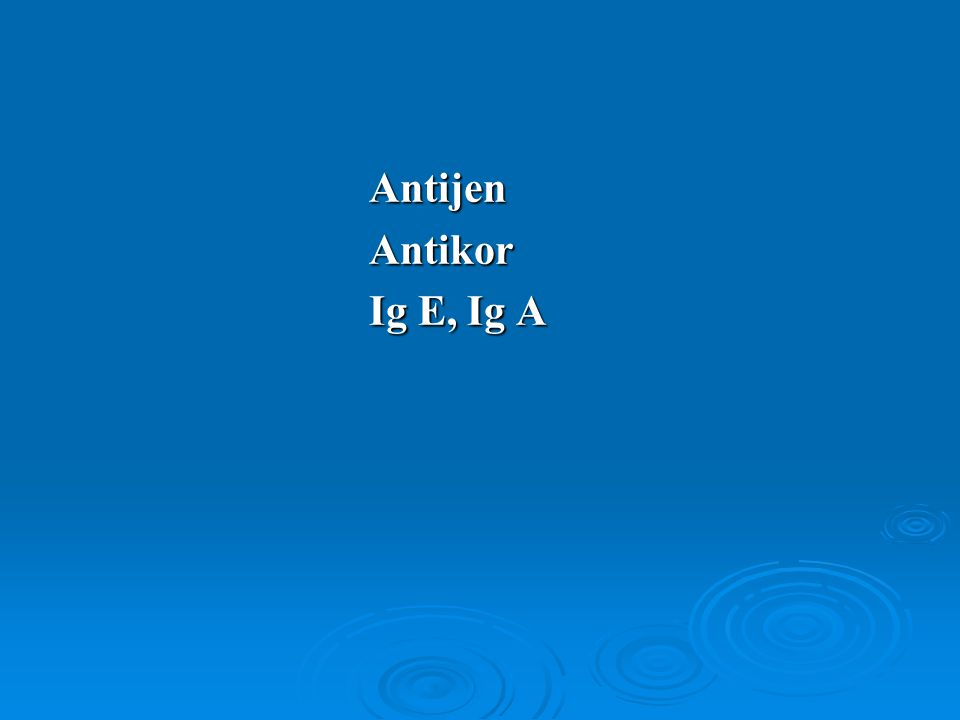 Antijen Antikor Ig E, Ig A