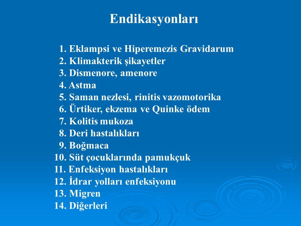 Endikasyonları 1. Eklampsi ve Hiperemezis Gravidarum