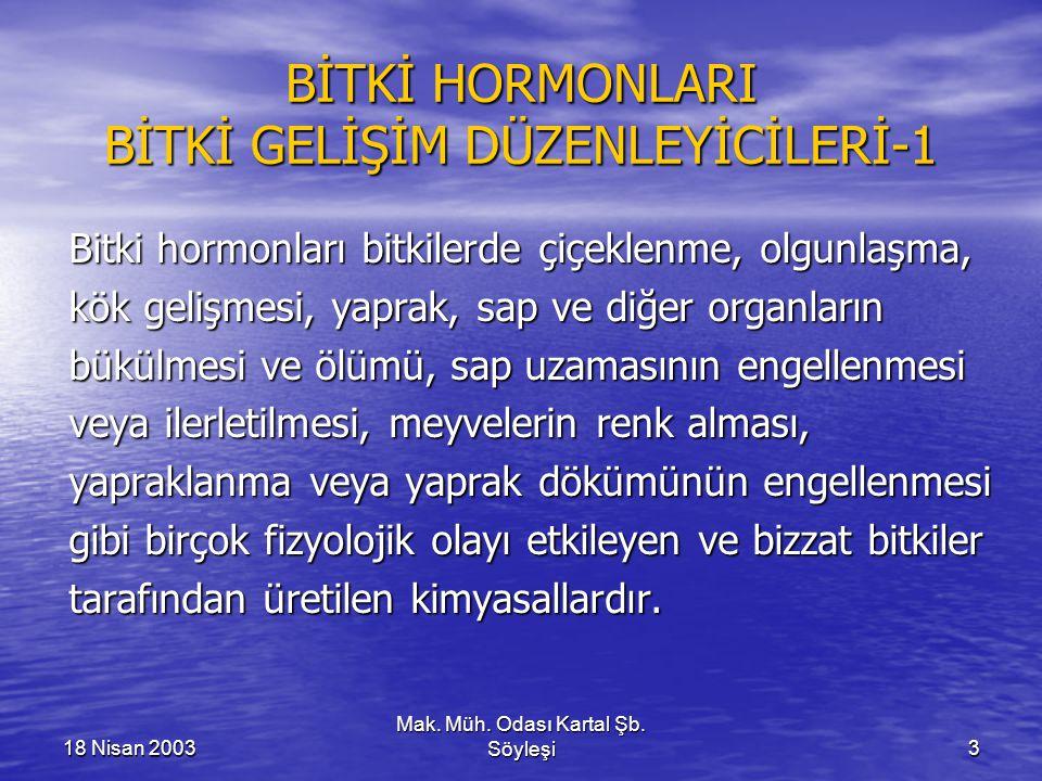 BİTKİ HORMONLARI BİTKİ GELİŞİM DÜZENLEYİCİLERİ-1