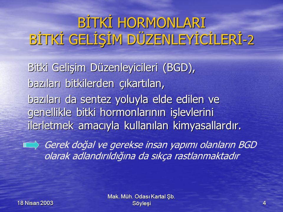 BİTKİ HORMONLARI BİTKİ GELİŞİM DÜZENLEYİCİLERİ-2
