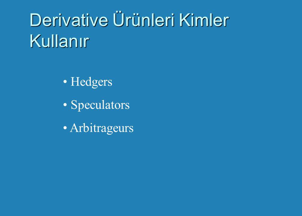 Derivative Ürünleri Kimler Kullanır