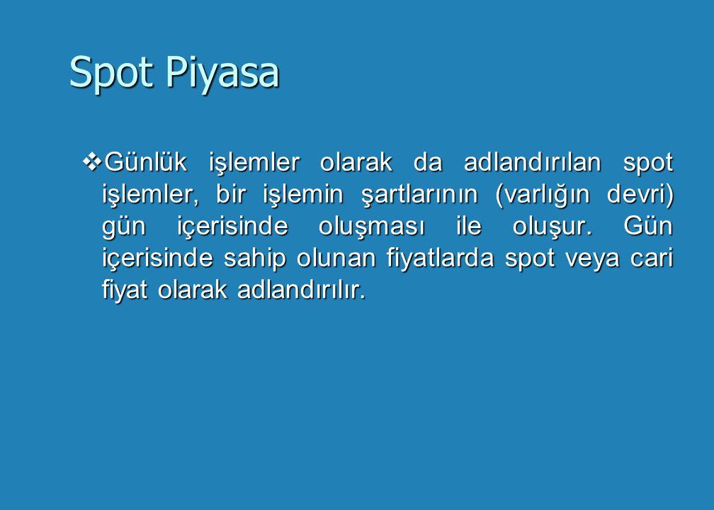Spot Piyasa