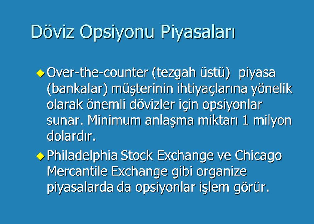 Döviz Opsiyonu Piyasaları