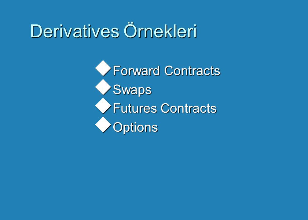 Derivatives Örnekleri
