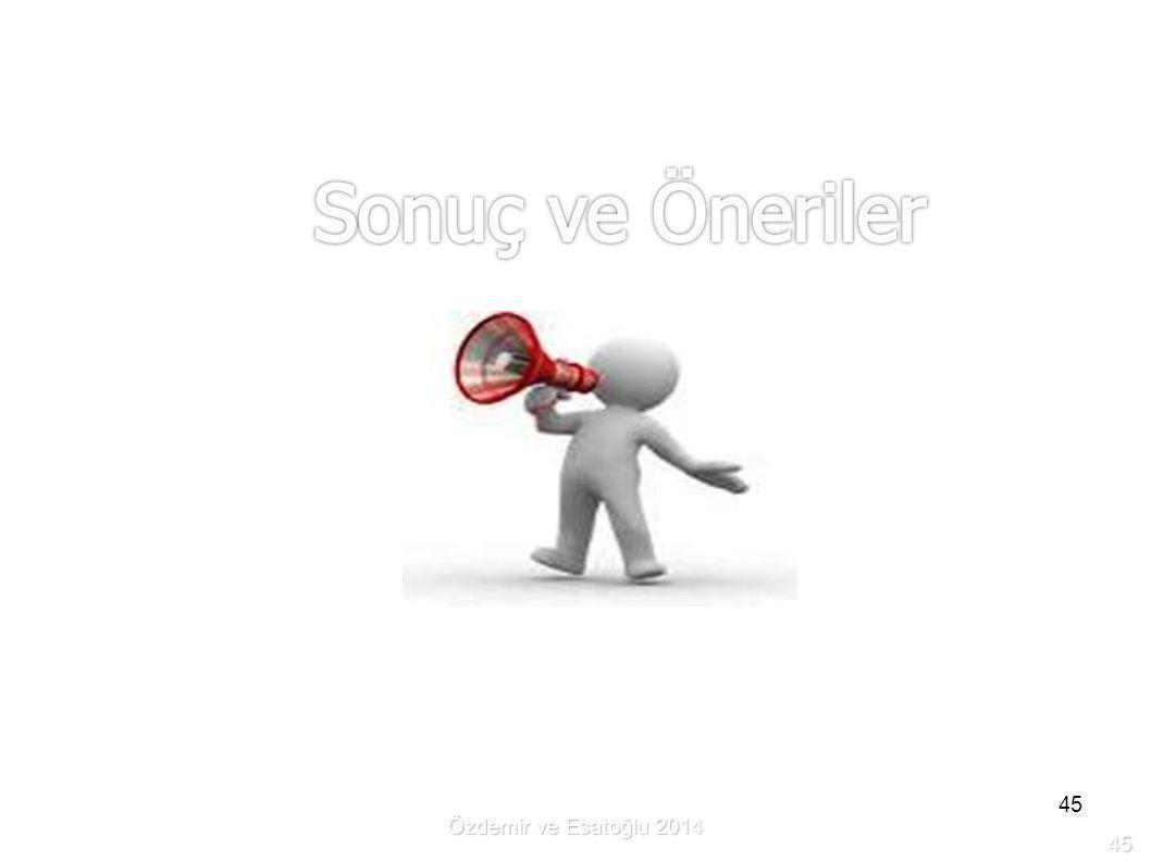 Özdemir ve Esatoğlu 2014 45 45