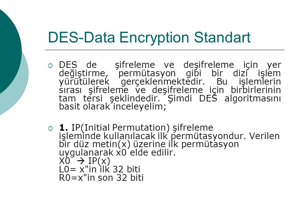 DES-Data Encryption Standart