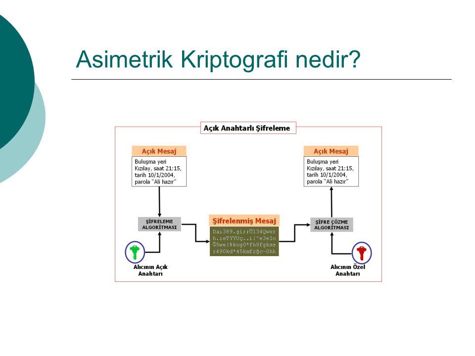 Asimetrik Kriptografi nedir