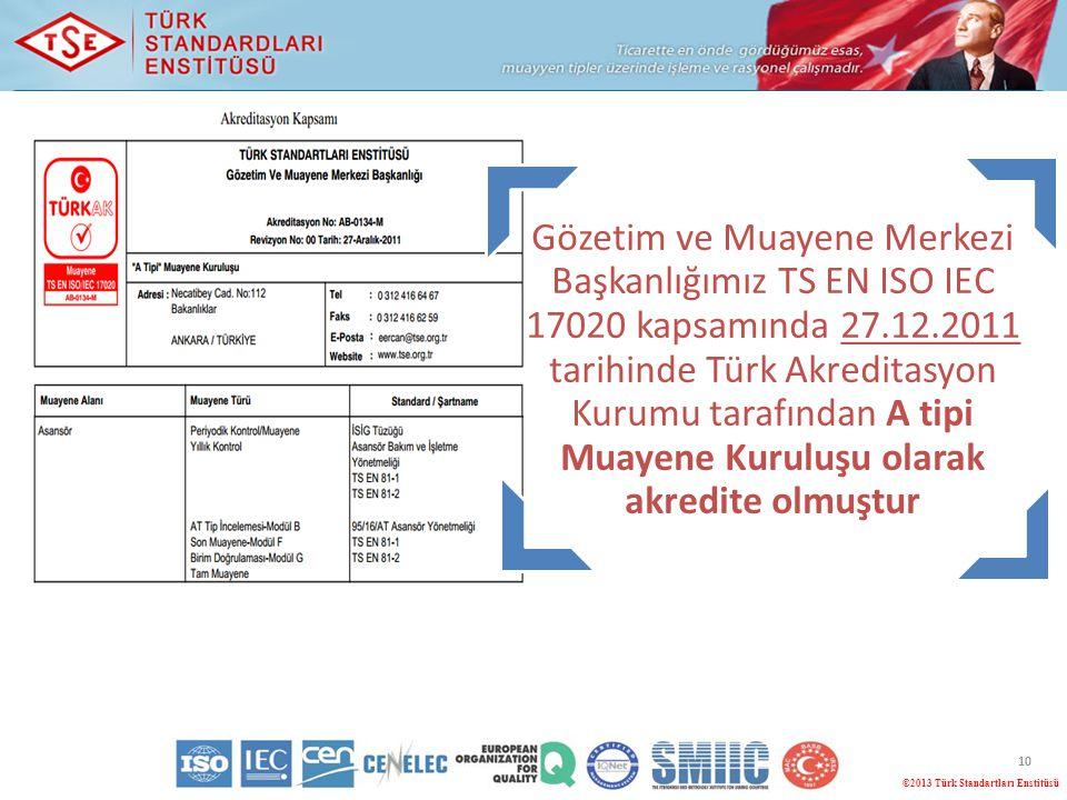 ©2013 Türk Standartları Enstitüsü