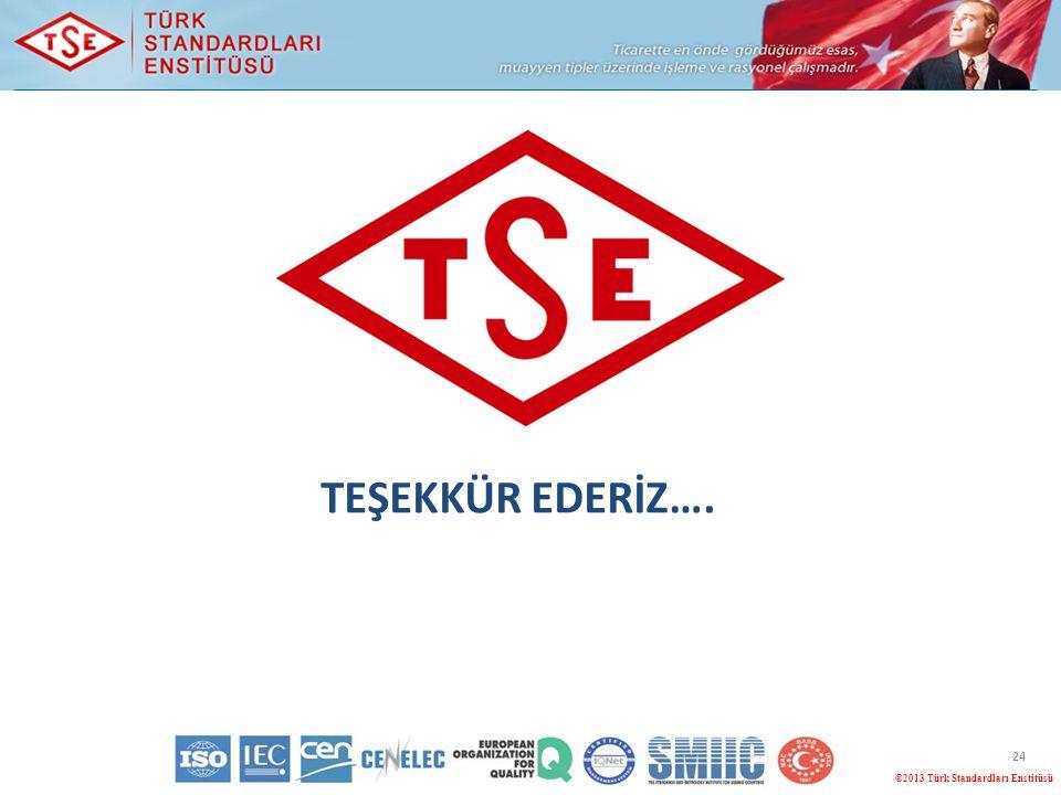 TEŞEKKÜR EDERİZ…. ©2013 Türk Standardları Enstitüsü