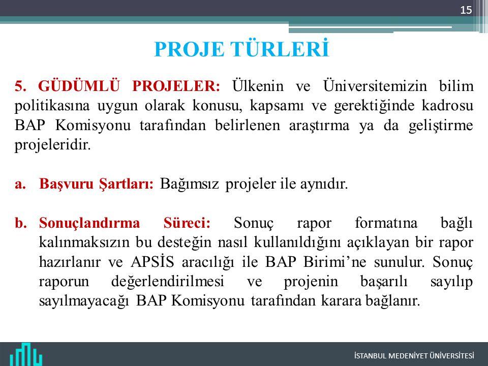 PROJE TÜRLERİ