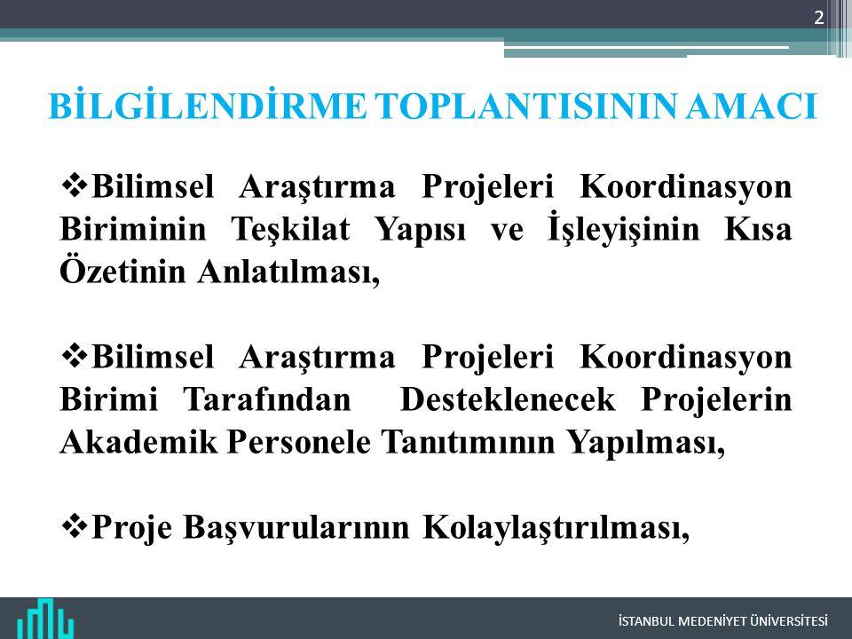 BİLGİLENDİRME TOPLANTISININ AMACI