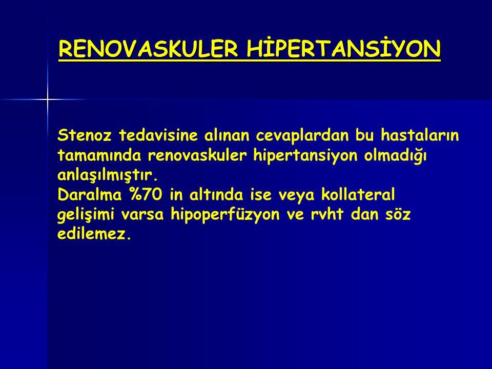 RENOVASKULER HİPERTANSİYON