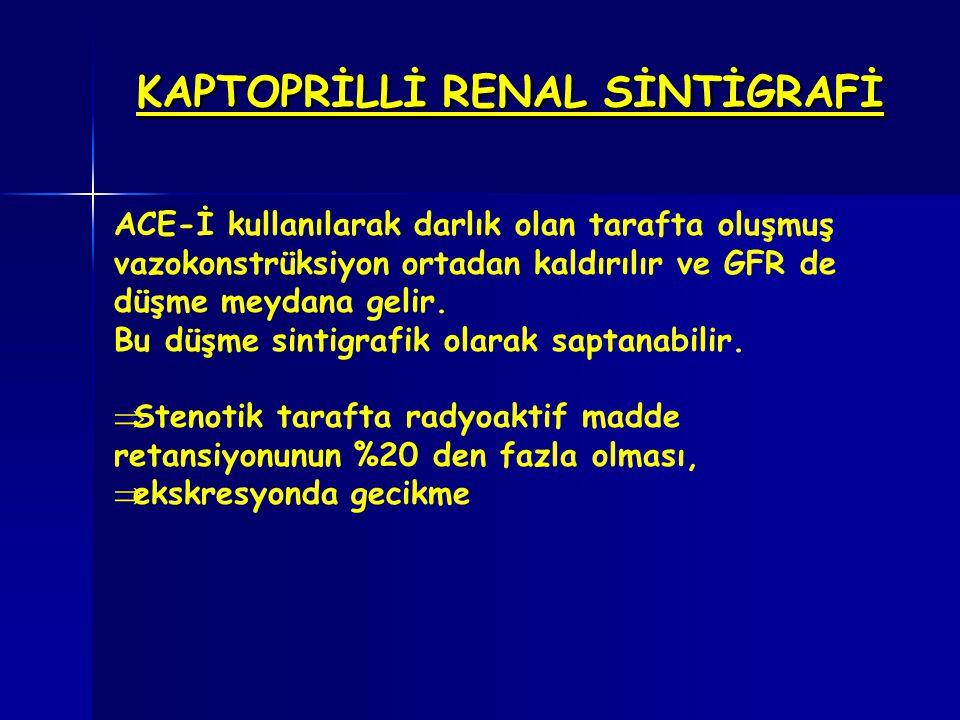 KAPTOPRİLLİ RENAL SİNTİGRAFİ