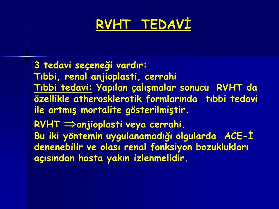 RVHT TEDAVİ 3 tedavi seçeneği vardır: