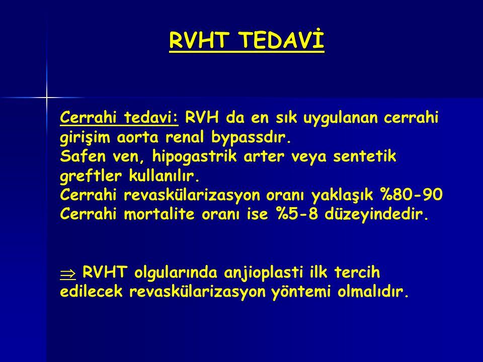 RVHT TEDAVİ Cerrahi tedavi: RVH da en sık uygulanan cerrahi girişim aorta renal bypassdır.