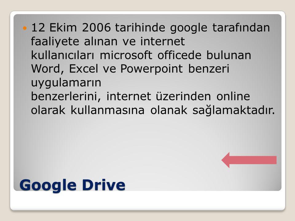 12 Ekim 2006 tarihinde google tarafından faaliyete alınan ve internet kullanıcıları microsoft officede bulunan Word, Excel ve Powerpoint benzeri uygulamarın benzerlerini, internet üzerinden online olarak kullanmasına olanak sağlamaktadır.
