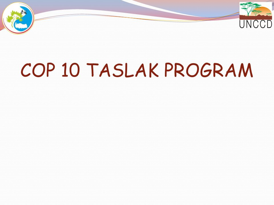 COP 10 TASLAK PROGRAM