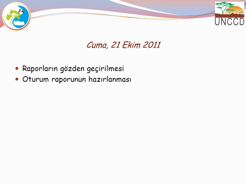Cuma, 21 Ekim 2011 Raporların gözden geçirilmesi