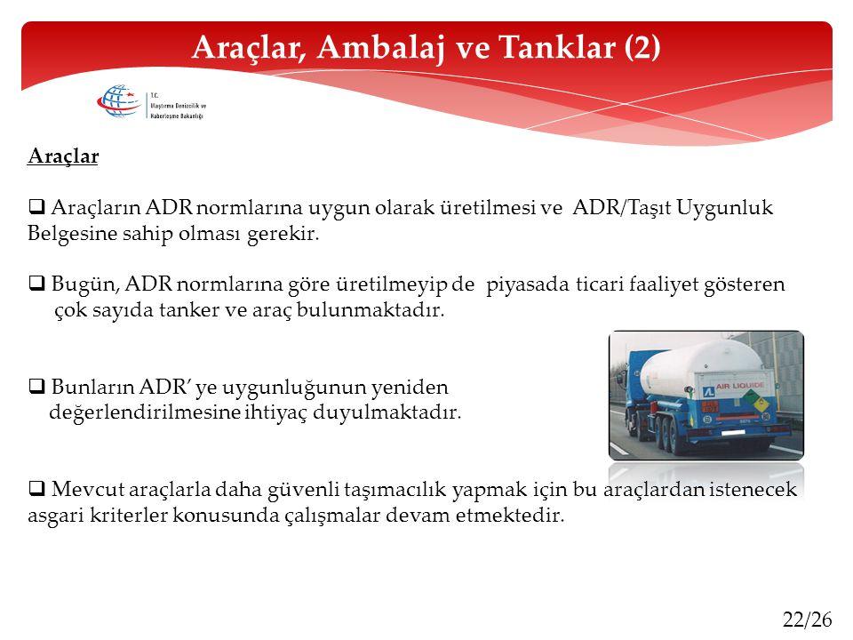 Araçlar, Ambalaj ve Tanklar (2)