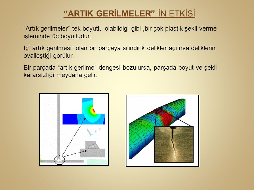 ARTIK GERİLMELER İN ETKİSİ