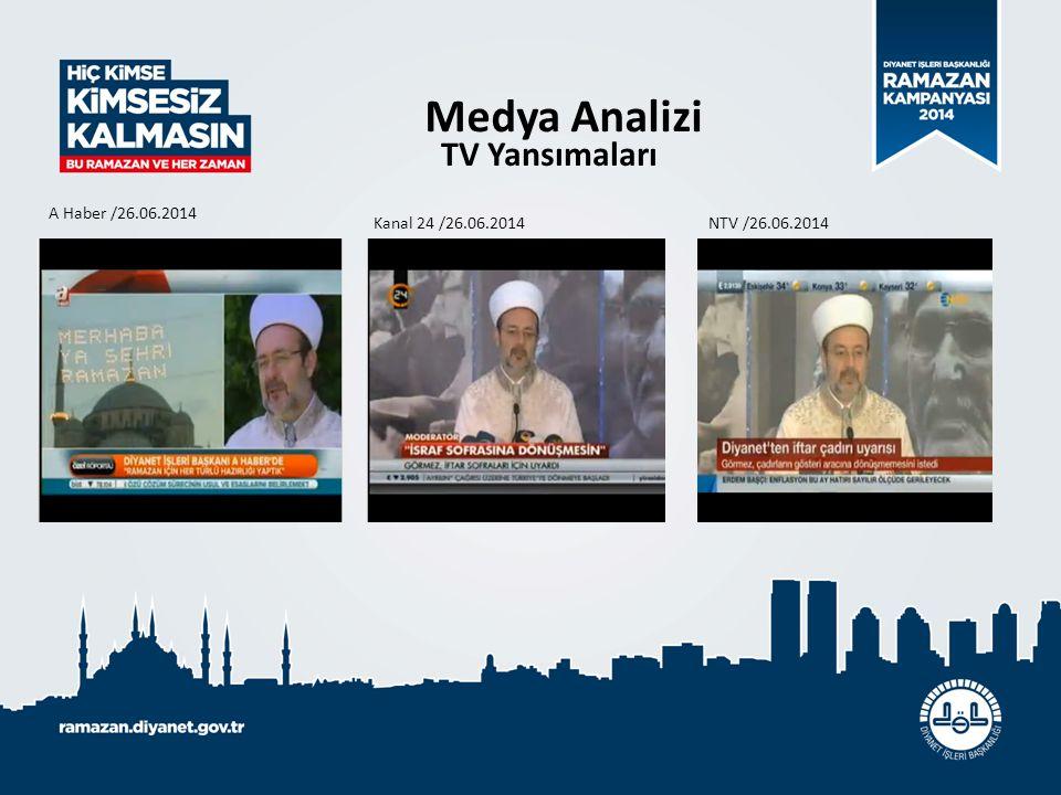 Medya Analizi TV Yansımaları A Haber /26.06.2014 Kanal 24 /26.06.2014