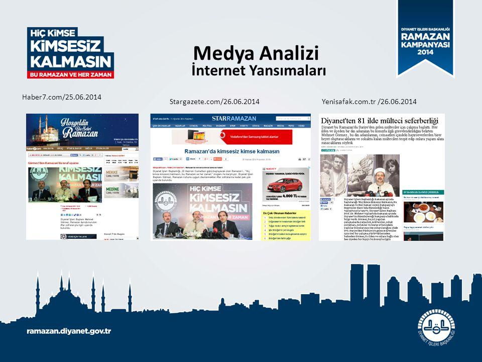 Medya Analizi İnternet Yansımaları Haber7.com/25.06.2014