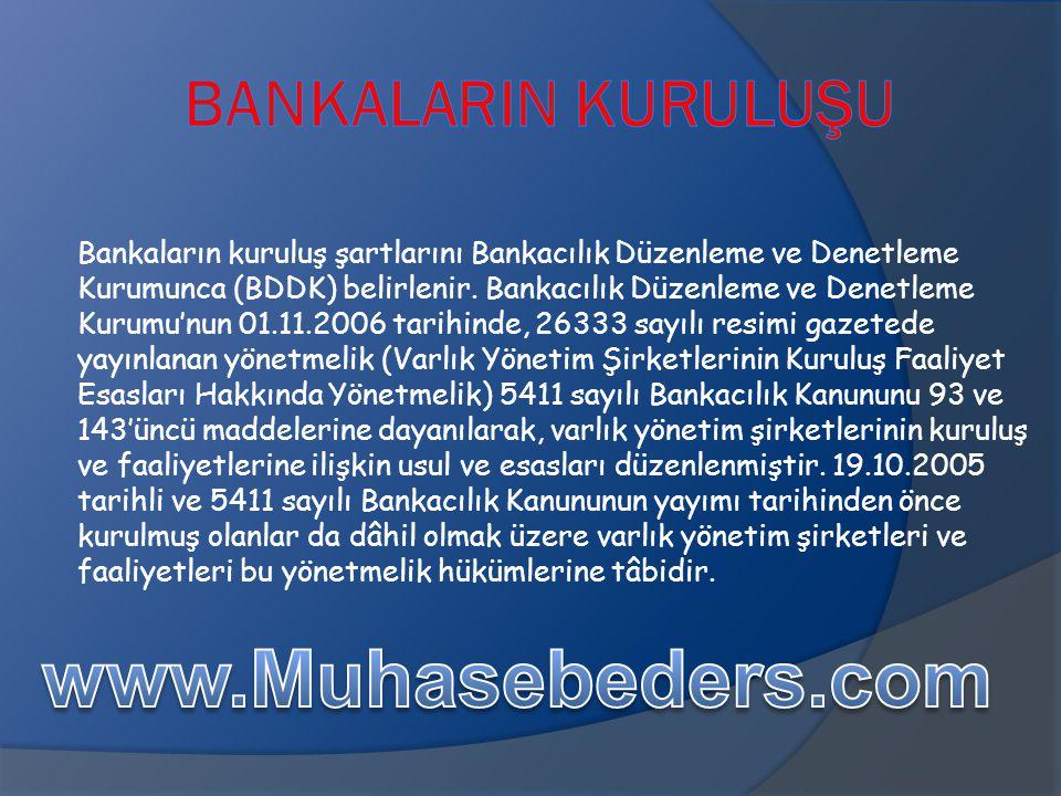 www.Muhasebeders.com BankalarIn Kuruluşu