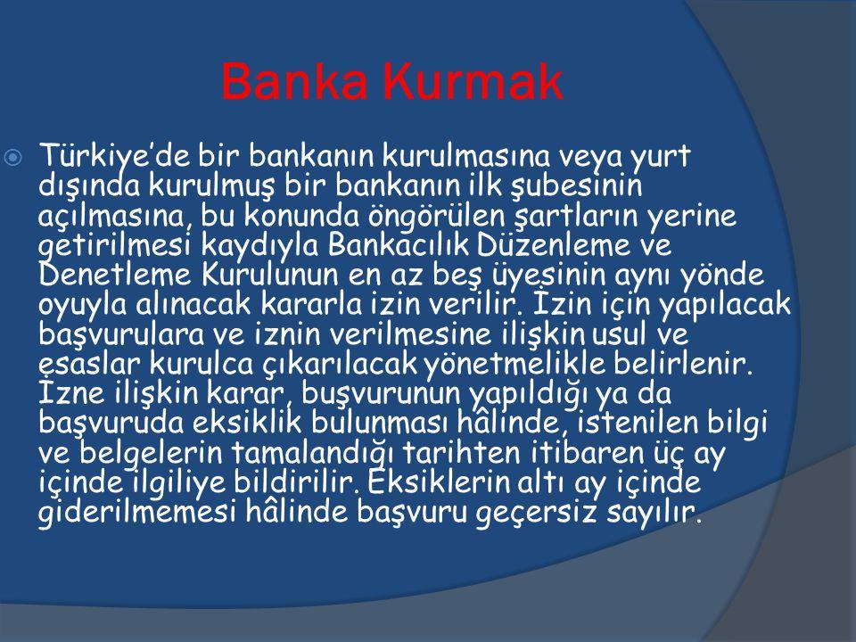 Banka Kurmak