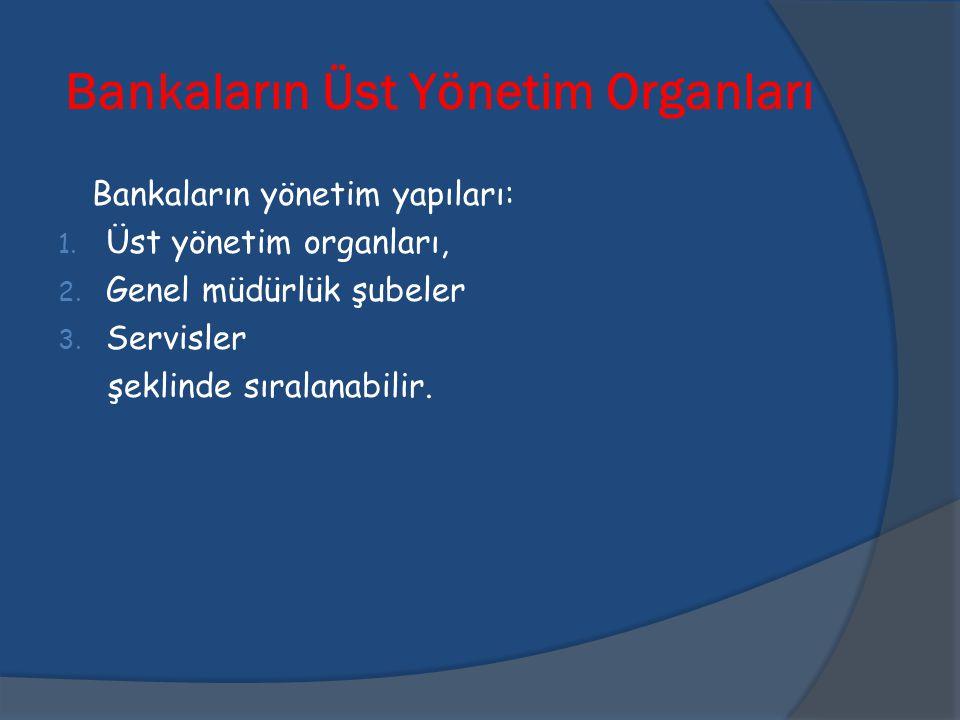 Bankaların Üst Yönetim Organları