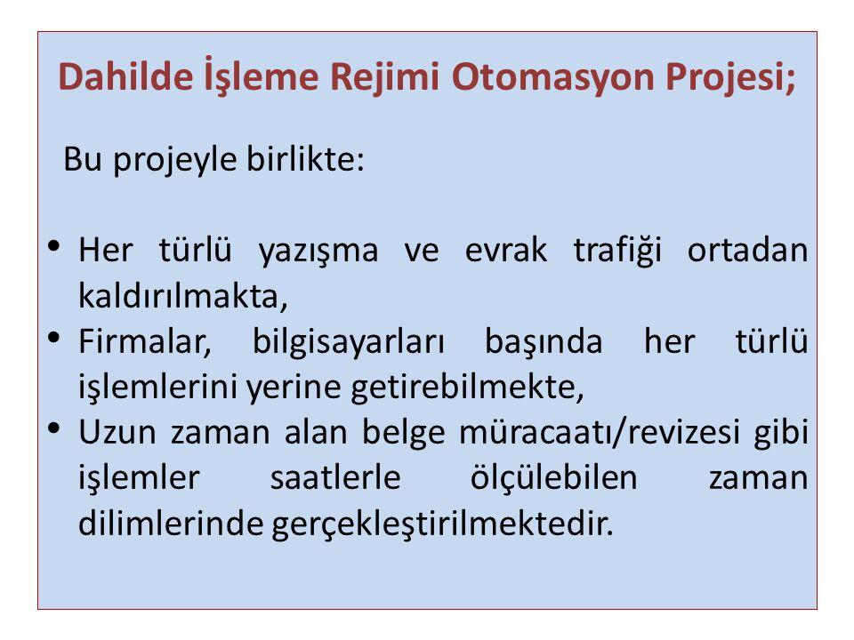 Dahilde İşleme Rejimi Otomasyon Projesi;