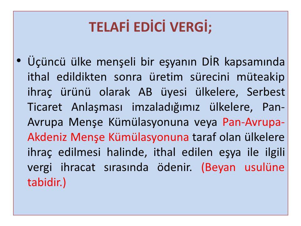 TELAFİ EDİCİ VERGİ;